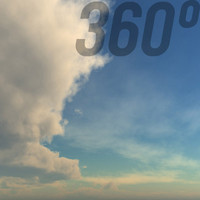 360° Sky Texture: Cloudy Afternoon