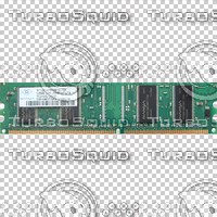 Memory Chip Texture PC2100 with alpha channel