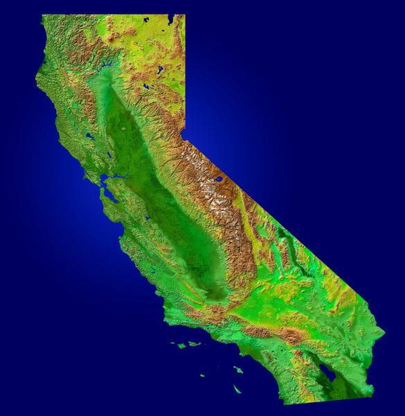 Satellite Panels Texture : Texture jpg map california satellite