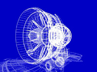 Aircraft engine graphic