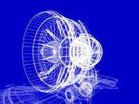 Aircraft engine graphic