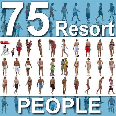 75 Beach / Resort People