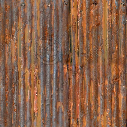 Texture Other Rusty Corrugated Iron