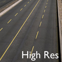 Highway Road 4 Lanes High Resolution