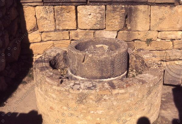 Morocco 245 Volubilis, olive oil press.jpg