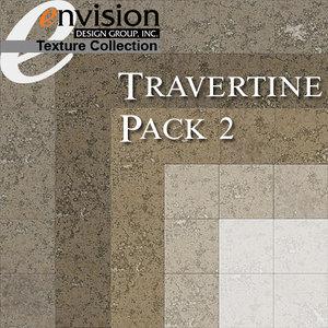 Travertine Floor Tile Textures 2