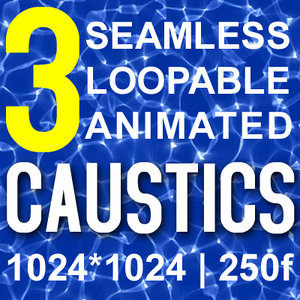 Animated Water Caustics (seamless)