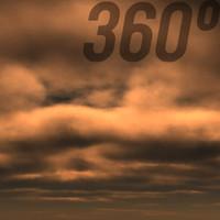 360° Stormy Twilight Sky