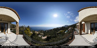 HDRI : sea view french riviera