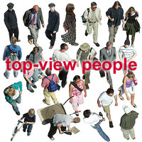 top-view people