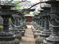 Orient 841 Copper lanterns offered by feudal lords at Toshugo Shrine.JPG