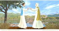 Visitation ( Maria to Elisabeth ) 3d.jpg