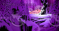 Winter Snow Scene & Barn / S-017