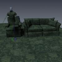 Texture: Scroll Cloth - Green
