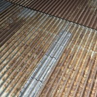 Corrugated Rusted Iron roof texture --------- High Resolution