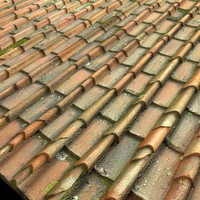 Old Italian Terra Cotta Roof Tiles Texture High Resolution