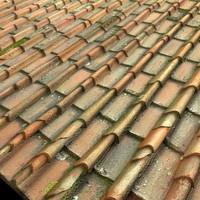 Old Italian Terra Cotta Roof Tiles Texture High Resolution