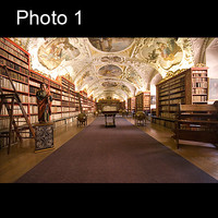 2x Prague / Czech old library