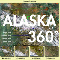 Alaska 360 Deg. AERIAL Env. Map -4 Image Set
