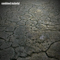 Cracked concrete texture material