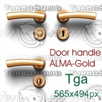 Door handle Alma-Gold