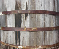 Old Wood Worn  Barrel