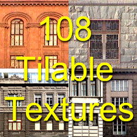 108 wall and windows tileable textures in .dds