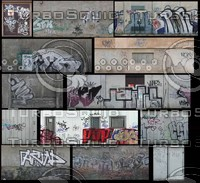 dirty graffiti wall textures