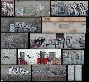 dirty graffiti wall textures