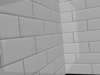 Glossy White Kitchen / Bathroom Tiles (V-Ray Material)