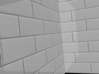 Glossy White Kitchen / Bathroom Tiles (V-Ray Material)