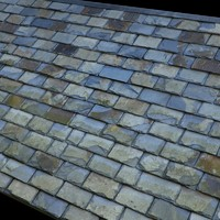 Blue Old Slates Roof  - High Resolution