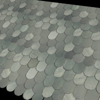 Round Chinese Roof Tiles -------------------- High Resolution