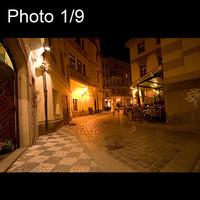 9x Prague at night