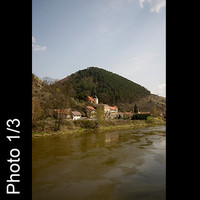 3x Czech landscape vilage and river