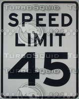 45 MPH Speed Limit Sign