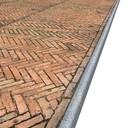 Italian Red Paving Sidewalk Texture High Resolution