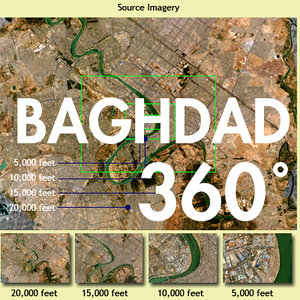 Baghdad 360 Deg. AERIAL Env. Map - 4 Image Set