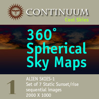 Cool Alien-1 - 360 Degree Spherical Map