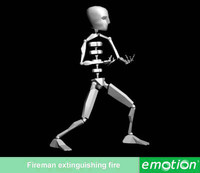 emo0002-Fireman extinguishing fire