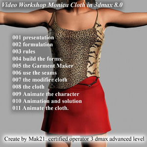 Video Workshop Create Cloth and animate  in 3dmax 8