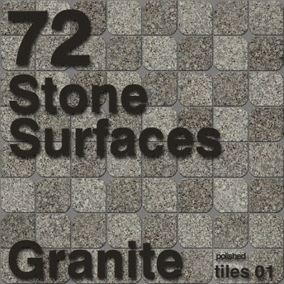 StoneSurfaces Granite Tiles Set 1