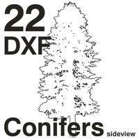 DXF Conifers Set