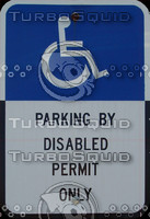 Disabled (Handicap) Parking Sign
