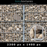 Gabion Stone Wall Element 01