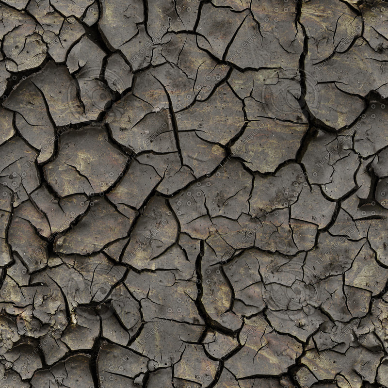 High resolution Cracked dry earth ground 4 + Normal Map