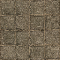 Medium resolution used stone block pavement 1 + normal map