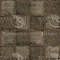 Low resolution used stone block pavement 2 + normal map
