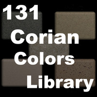 100-Corian Solid Surface color Library