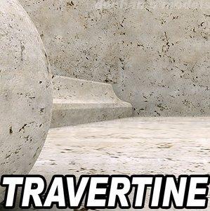 Travertin marble